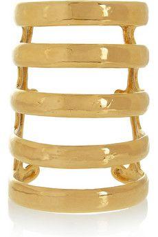 Aurélie Bidermann Esteban gold-plated cuff | NET-A-PORTER