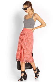 Classic Lace A-Line Skirt | FOREVER21 - 2000126881