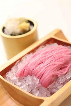Japanese Pink Ume (plum) Soba Noodles