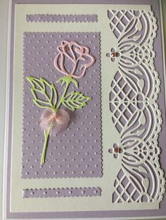 102 Best Cards made with unbranded dies images Birthday Cards For Women, Handmade Birthday Cards, Cards Made With Unbranded Dies, Pinterest Birthday Cards, Spellbinders Cards, Fancy Fold Cards, Embossed Cards, Pretty Cards, Flower Cards