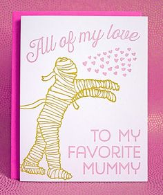 Mummy - mother's day letterpress printed card