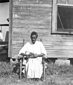 History in Photos: Born in Slavery Clara Brim, age over 100, Beaumont, Texas, (1937)
