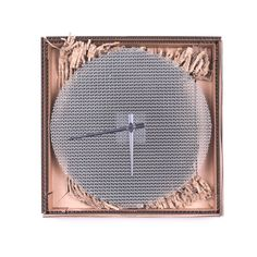Circlock wall clock will amaze you with its pure beauty of cardboard structure supplemented by distinct silver hands. This round clock in natural design fits greatly in any interior.