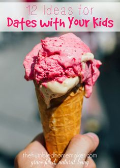 This post gives 12 budget-friendly suggestions for date nights with your kids, and talks about why it& important to spend one-on-one time with your kids. Mommy Daughter Dates, Mommy And Son, Mother Daughter Activities, Kid Dates, Family Night, Kids Corner, Raising Kids, Healthy Kids, Best Mom