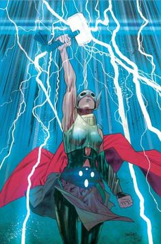 Artist James Harren whipped up this lightning filled variant cover art for Thor This is a beautiful piece of art that would make for a great poster. The comic comes from writer Jason Aaron and artist Russell Dauterman , and here are the story Marvel Comics, Heros Comics, Marvel Art, Marvel Heroes, Marvel Girls, Thor Valkyrie, Robert E Howard, Female Comic Characters, Female Thor