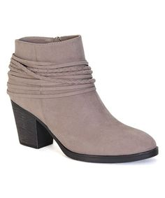 Taupe Braid-Accent Avenge Bootie