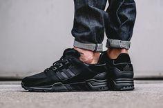"On-Foot: adidas EQT Running Support 93 ""Triple Black"" - EU Kicks: Sneaker Magazine"