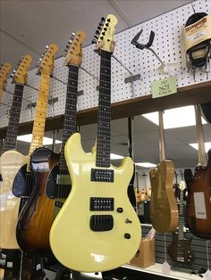 Jerry Cantrell Signature Tribute G&L @ Tillman Music. Ivory with an Ebony Fingerboard. Massive Sustain from this one.