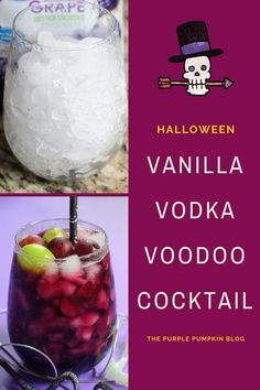 Our Voodoo Cocktail made with vodka, vanilla liqueur, and red grape juice is perfect for any Halloween themed get-togethers you are planning! And if you're not, this deep red cocktail is perfect to enjoy on those cold fall nights! #HalloweenCocktails #ThePurplePumpkinBlog Cocktails Made With Vodka, Vodka Cocktails, Easy Cocktails, Fun Drinks, Vanilla Liqueur, Halloween Party Drinks, Cheap Halloween Decorations, Purple Pumpkin, Fall Nights