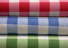Textile Spotlight: Queen Charlotte's Check {aka Buffalo Check}  Link has some great examples of rooms using this pattern