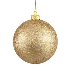 Gold Sequin Shatterproof Ball for Christmas Tree and Holiday Home Decor Christmas Decorating