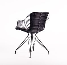 Wire Dining Chair in Black by Overgaard & Dyrman