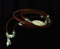 #96 Mini Leather Birch Wrap $110 - Whitney Haynes Designs