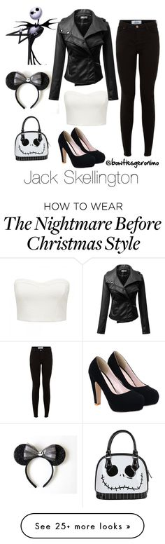 """Jack Skellington"" by bowtiesgeronimo on Polyvore featuring Forever New and Disney"