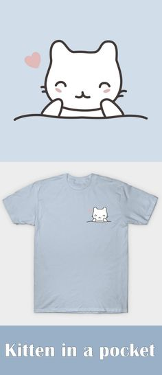 Attention #CATLOVERS!!!! Grab this great #kitten in a pocket design from teepublic now for $20 and if you are lucky you might get a 30% discount. Check out our site to see if you get grab a discount now!