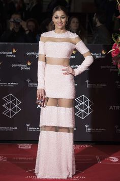 Spanish actress Mariam Hernandez attends the 'Pieles' premiere on day 8 of the 20th Malaga Film Festival at the Cervantes Teather on March 24, 2017 in Malaga, Spain.