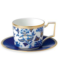 Wedgwood Hibiscus Teacup & Saucer Set