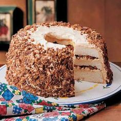 Layered Toffee Cake. This was a big hit at last night's potluck dinner.
