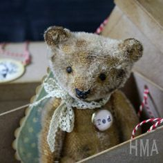 hug me again | Miniature Hug Me Again collectible Mohair bear by V. Galli
