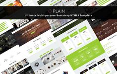 NOT free, but affordable: PLAIN – is Ultimate Multi-Purpose Bootstrap HTML5 Business Template. PLAIN is Best suited for business, agency, startup, corporate, portfolio and so on.