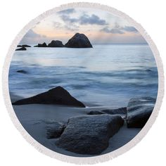 Tropics Round Beach Towel featuring the photograph Into The Dusk IIi by Kristina Abramovic