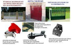 CANCELAS DE ALUMINIO AUTOMATICAS. en MADRID