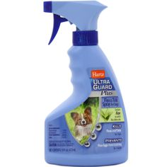 Hartz Ultra Guard Plus Flea & Tick Spray for Dogs ($9.99) kills fleas and ticks while soothing skin and stopping the flea life cycle in its tracks. This spray formulation is an easy-to-apply solution to your pet's pest problems and works to kill fleas and ticks for seven days.