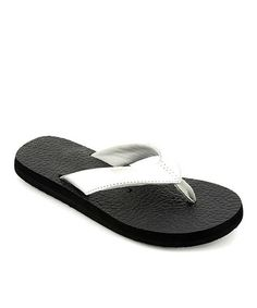 0235c5f77189b5 Another great find on  zulily! Silver Exercise Flip-Flop  zulilyfinds White  Flip