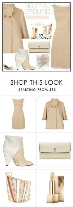 """Cool Neutrals"" by zon-vito ❤ liked on Polyvore featuring Harrods, IRO, Valextra, Alexis Bittar, Burberry, WorkWear, formal, Elegant, neutrals and falltrend"