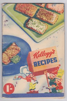 Kelloggs Recipes Vintage Cookbook f/ Snap Crackle & Pop w/ Illustrations 1940s Cooking Cook Book Australia