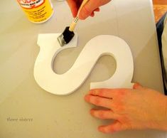 Fabric Letters with Mod Podge