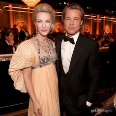 """We love this Benjamin Button / Babel reunion. Brad Pitt with Cate Blanchett at the Cate Blanchett Golden Globes, Celebrity News, Celebrity Style, Celebrity Babies, Celebrity Photos, Grammy Fashion, Christopher Abbott, Best Television Series, Best Screenplay"