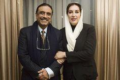Asif ali zardari with benazir bhutto