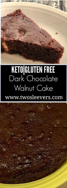 Keto Dark Chocolate Walnut Gluten-free Cake, Pour and Bake keto dark chocolate walnut cake. High-fat, low carb, gluten-free, vegetarian cake. Deep chocolate flavor. Tastes just like the real thing  Tw (Low Carb Chocolate Truffles)