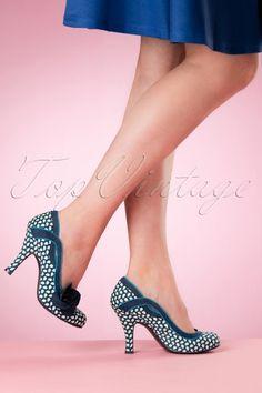 59,95 Ruby Shoo Issy Ladies Shoe Blue Floral 400 39 16821 02242016 005W