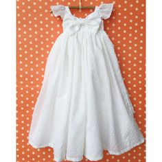 Image of White Etta Gown with Flutter Sleeves.... blessing dress.... if I ever have another girl