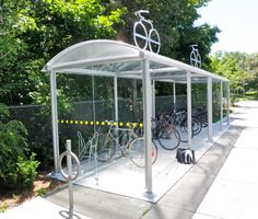 TTC Bicycle Shelter St. Clair West Station