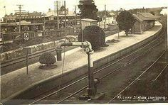 Lawson Railway Station in the Blue Mountains region of New South Wales in 1910.A♥W