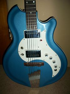1960s Supro Tremo Lectric RES O Glass Electric Guitar Wedgewood Blue