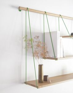 Love this idea for DIY shelves