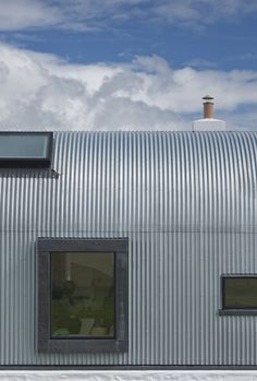 House No.7 by Denizen Works, a restored ruin in the Outer Hebrides - striking use of corrugated iron.