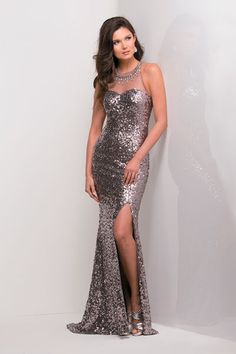 2014 Prom Dresses - Burgundy Chiffon Sequin Prom Dress - Unique ...