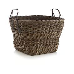 Harbert Basket with Metal Handles  | Crate and Barrel