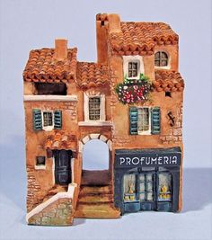 DOMINIQUE GAULT MINIATURE BUILDING PROFUMERIA  # 210276 FRANCE TUSCANY PROVENCE