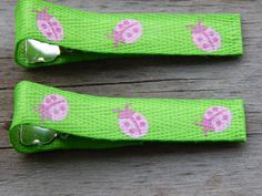 Pink Ladybug Ribbon Hair Clips  Ladybug Hair Clips  by Sapphire107 #craftshout0319 #thinkspring