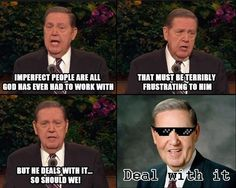 Deal With It.a little Mormon humor for you guys. Funny Church Memes, Funny Mormon Memes, Lds Memes, Church Humor, Church Quotes, Lds Quotes, Elder Holland, Valor Individual, Lds Mormon