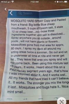 Pesticide-Free ROCKS! Mosquito Yard Spray, Mosquito Plants, Cheap Beer, Big Bottle, Weed Control, Funny Thoughts, Garden Pests, Mouthwash, Outdoor Projects