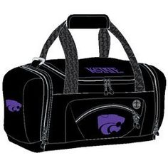 NCAA Kansas State Wildcats Roadblock Duffle Bag by Concept 1. $25.00. The Roadblock is a magnificent bag that offfers space and multiple compartments to fit all of your belongings.  Convenient for the gym, a weekend getaway, or any activity that requires a spacious bag.