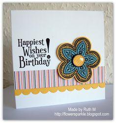 Flower Sparkle: Gift Card Holder