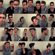 Ricky Dillon Kian Lawley messing with photobooth xD